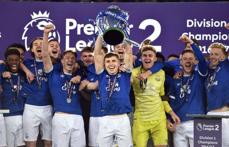 Everton U23s lift the Premier League 2 trophy - Liverpool Echo