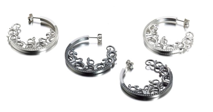 Carina Blomqvist, Afrodite earrings, http://www.carinablomqvist.fi/