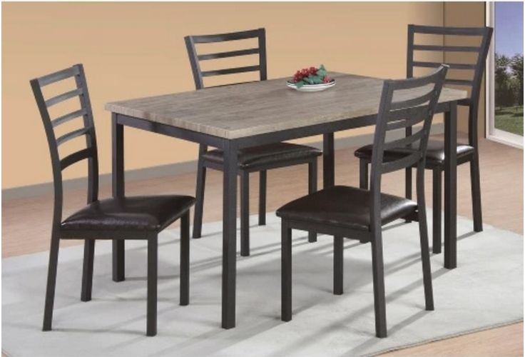 5 Piece Dinning Table Chair Set Furniture Solid Wood Modern Versatile Room New