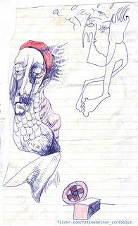 illustration scribble  sketch design drawing ink drawing figure Fatime Molnar