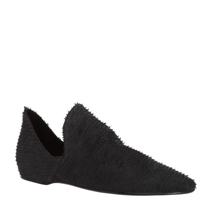 Max Studio Lear Textural Suede Slip On Smoking Flat