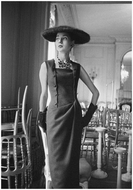 Dior Glamour Model Renée Breton 1955 dress, Autumn-Winter ...