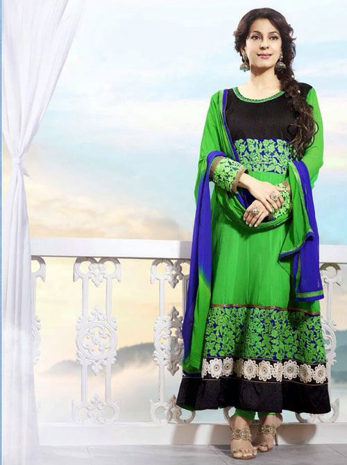 SV-KA0183 at JUST @ $74 Buy at http://www.shopvhop.com/product/dark-green-juhi-chawala-designer-collection-16012/