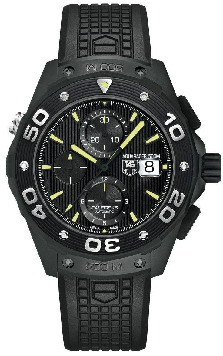 #tagheuer Aquaracer 500m Chronograph Full Black . . . great looking chrono!!