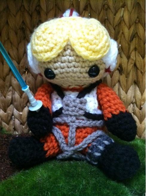 Crochet Luke Skywalker Tie Fighter Star Wars.... Aj would love this!