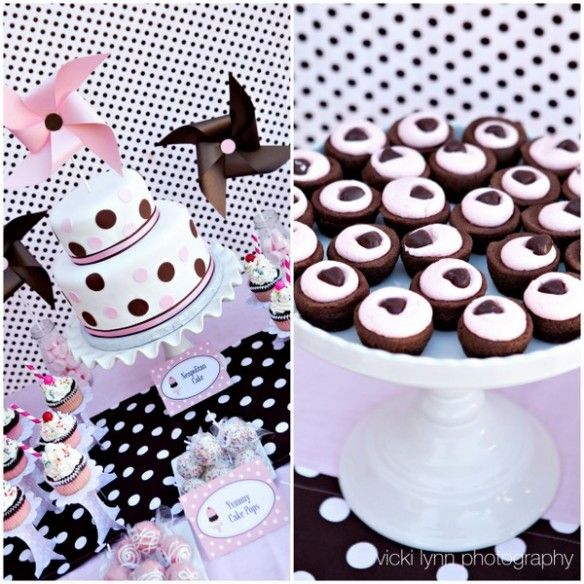 neapolitan ice cream party!Baby Parties, Ice Cream Parties, Birthday Parties, Brownies Bites, Dots Parties, Parties Ideas, 7Th Birthday, Neapolitan Ice, Cake Toppers
