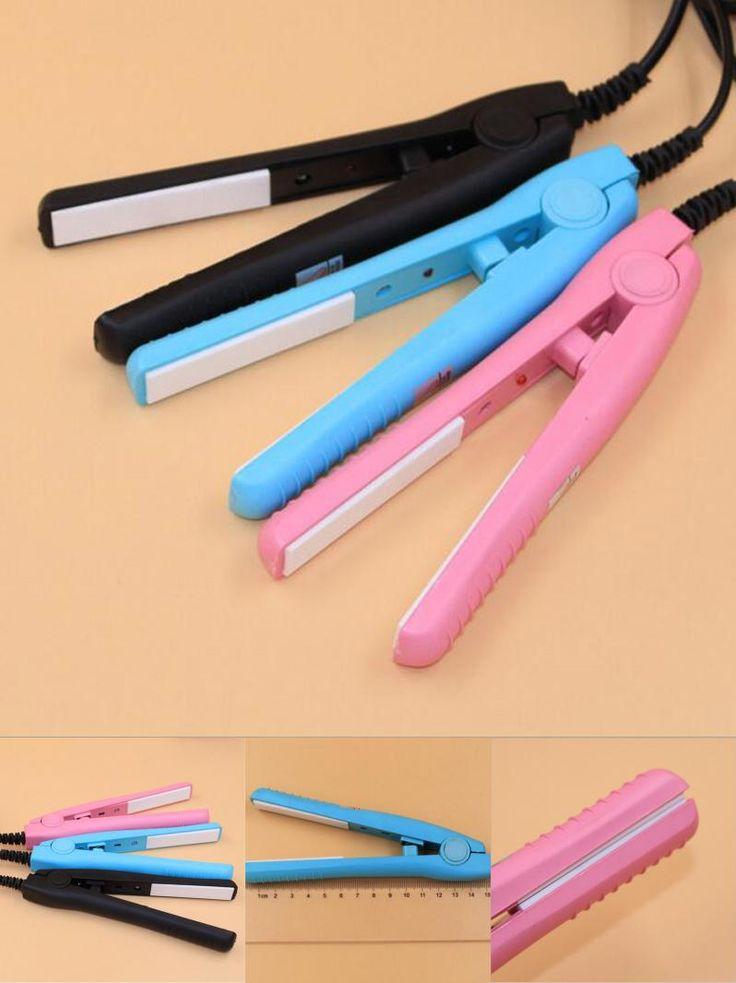 [Visit to Buy] 3Color Mini Hair Straightener Iron Pink Ceramic Electronic Chapinha Nano Titanium Straightening Styling Inro Hair Straightener  #Advertisement