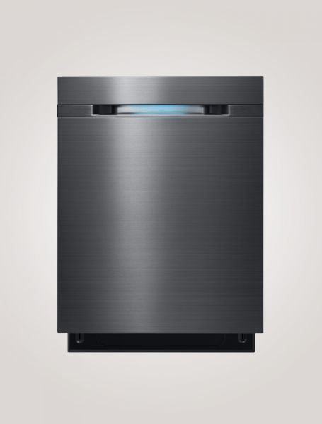 Tendances 2017 : Cuisine contemporaine   Lave-vaisselle encastrable Samsung avec technologie WaterWall en acier inoxydable noir (black stainless)