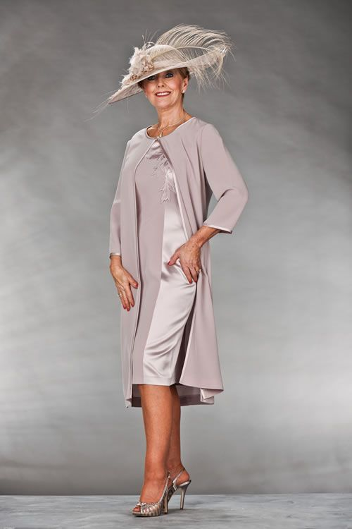 Lose the hat, but love the rest! mother of bride classic dress plus size | Mother of the Bride or Mother of the Groom outfit
