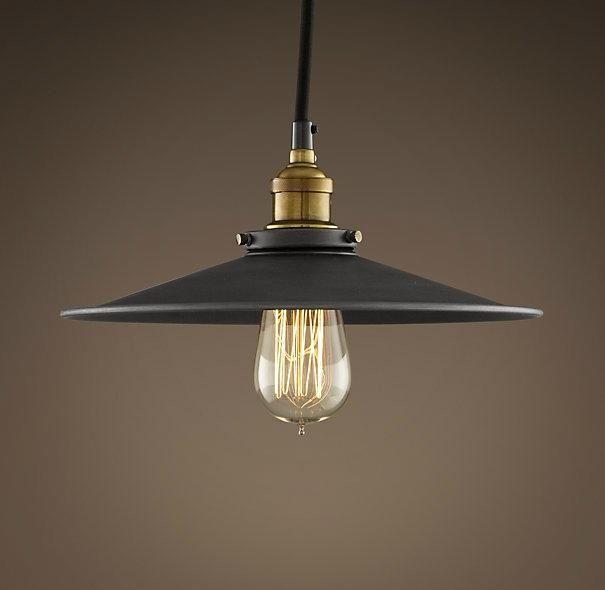 Vintage industrial metal filament ceiling light