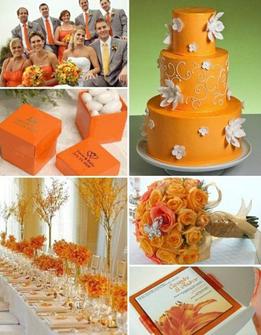 143 best wedding ideasteal and orange images on pinterest fall wedding cake orange wedding ideas autumn is the great season for orange junglespirit Images