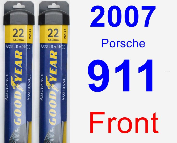 Front Wiper Blade Pack for 2007 Porsche 911 - Assurance