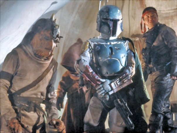 """Boba and """"Friends"""" in Jabba's Palace"""