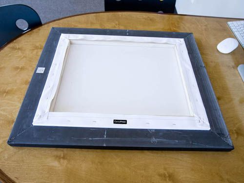 how to frame a canvas diy