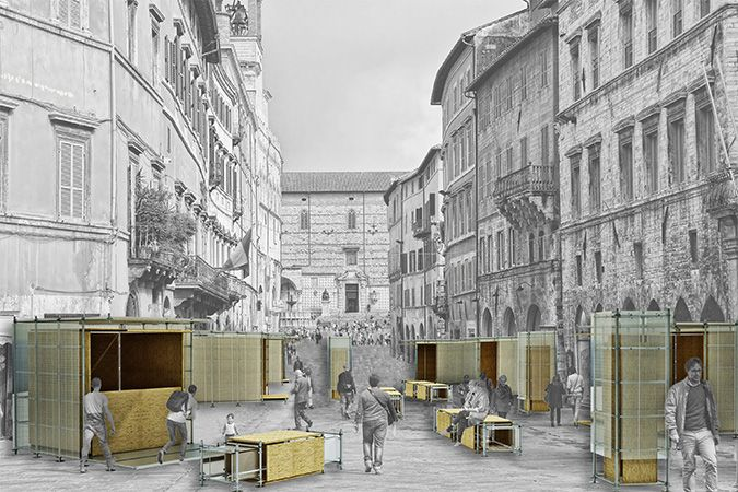 Project of a temporary structures by N_D creative