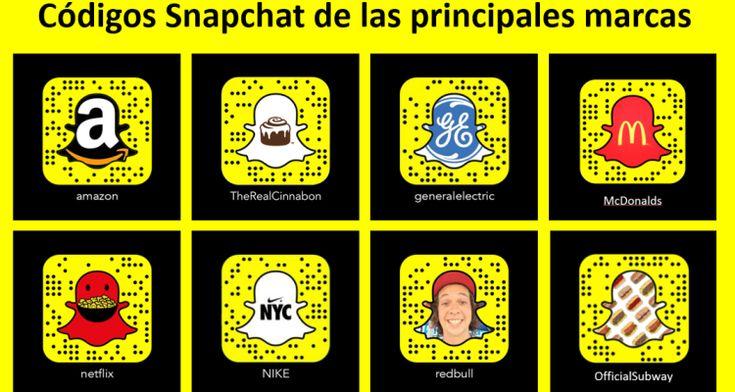 Código de Snapchat de las principales marcas. Artículo en español. #CommunityManager
