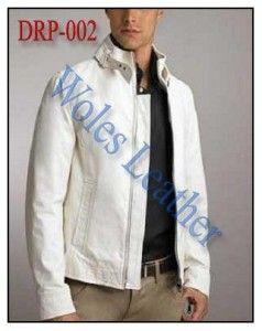 Jaket Kulit Putih; Kode: DRP-002