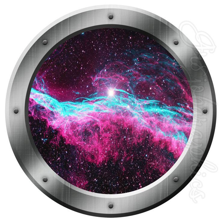 Galaxy wall art porthole decal space outer space milkey way stars kids room sticker ps27 by