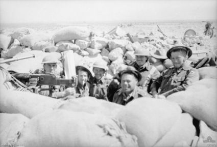 Members of the 2/48th Battalion manning a defensive position around Tobruk in 1941