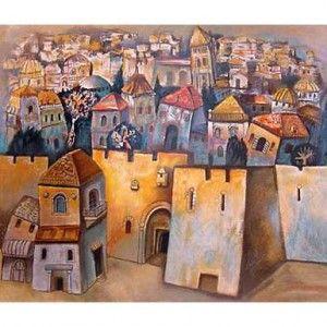 Jerusalem. Artist: Gregory Kohelet. Handsigned & Numbered Limited Edition Serigraph | Serigraphs