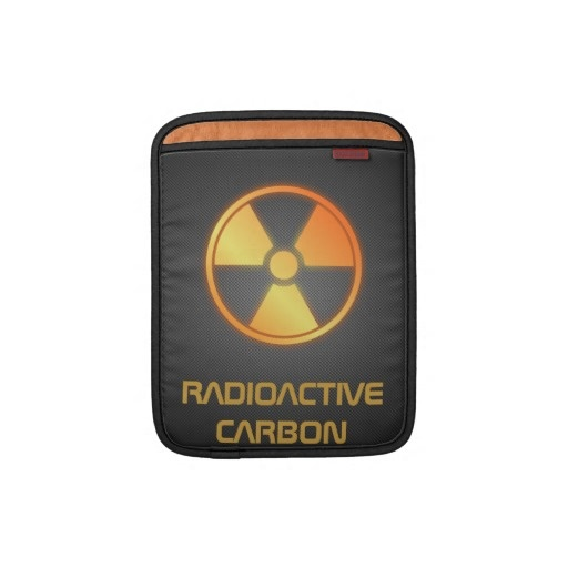 radioactive carbon fiber sleeve for iPad by BannedWare