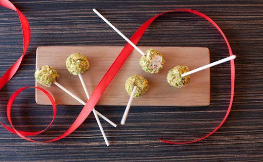 Sylvie's Smoked Salmon & Pistachio Lollipops
