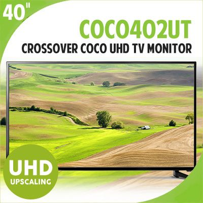 [S$369.00](▼35%)[Cross Over]Cross Over 40inch COCO402UT UHD LED TV Monitor / COCO 402UT / Ultra HD / VA / Chroma Sub Sampling / UHD Up Scaling / 2.0ch Built In Speaker / 4K UHD Resolution / LG / SAMSUNG [FREE SHIPPING]