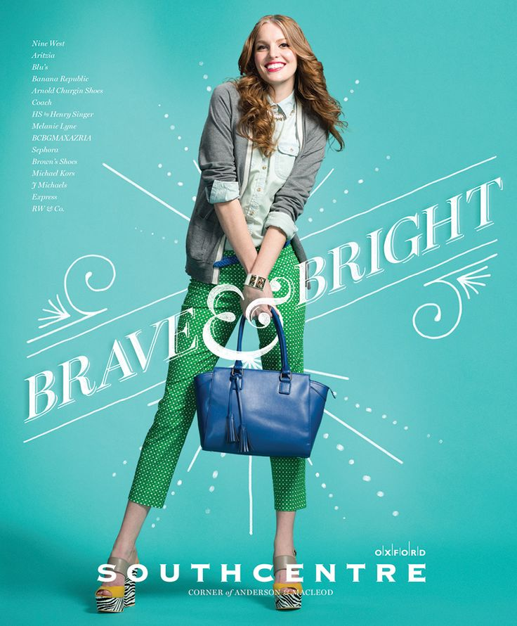 Southcentre Mall Summer/Winter Campaign Illustrated Type - Graphis