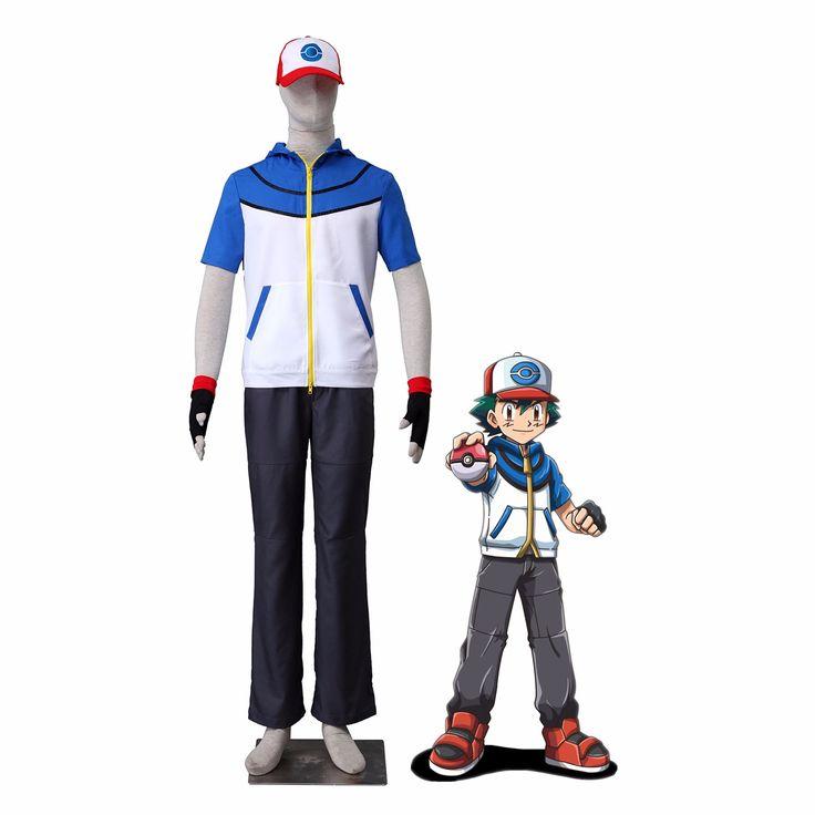 Athemis Ash Ketchum cosplay Pokemon Pocket Monster BW-Ash Katchum cosplay costume any size custom made