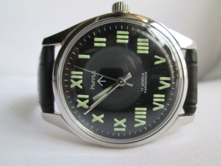 100% AUTHENTIC VINTAGE HMT MILITARY LUME FIGURE 17JEWEL WINDING MENS WRIST WATCH #hmt #Casualformal