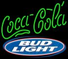 Bud Light with Coca Cola Neon Signs