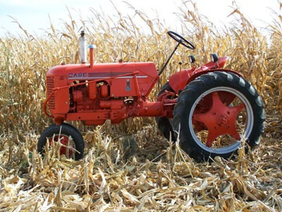 1941 Case tractor.  Photo by Sid Johnson.