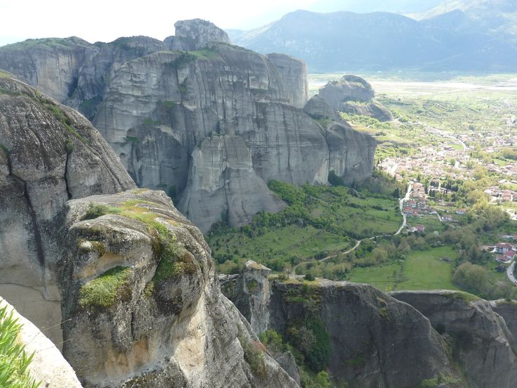 View of Kalambaka Meteora from the Holy Monastery of Grand Meteoron #cathytravelling