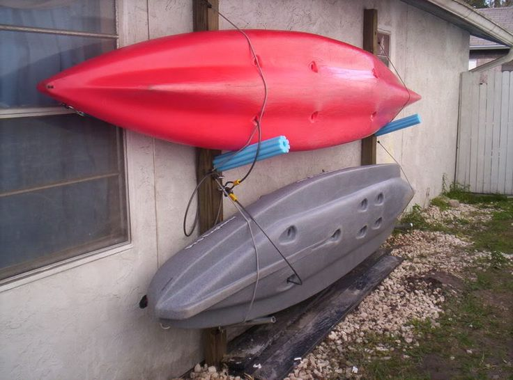 Kayak Storage. for the side of my studio