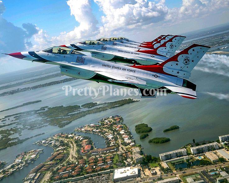 USAF Thunderbirds F16 Fighting Falcon 5Ship Formation