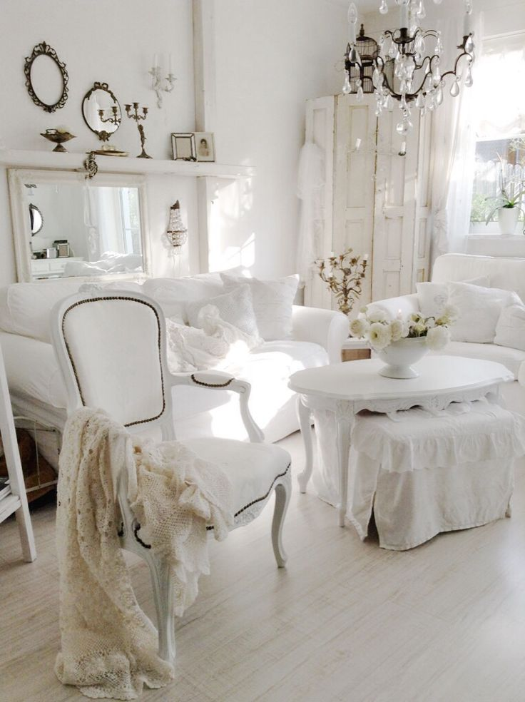 Shabby chic is an absolutely enchanting decor style and today id like to share shabby chic living room decor ideas beautiful pastels or white living