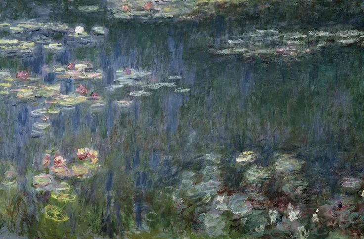Claude Monet, Les Nymphéas: Refets verts, 1914-18. Musee de l'Orangerie, Paris. Photo: Bridgeman Images.