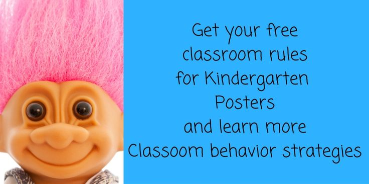 Click here to get your free classroom Rules for Kindergarten posters and learn more classroom behavior management strategies