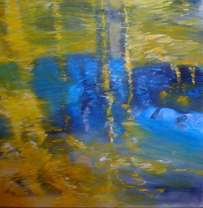 Golden Pond acrylic (don't like acrylics..will never touch acrylic ever again!)