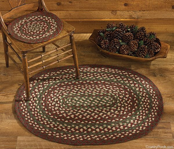 glenwood braided chairpads and braided oval area rugs