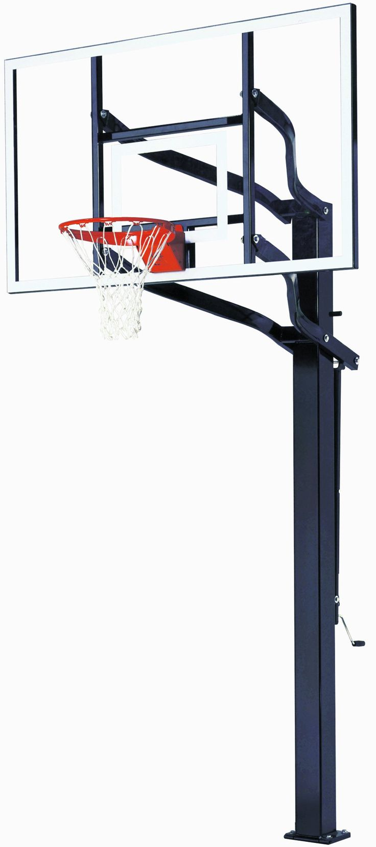 Goalsetter X672 In Ground Adjustable Basketball System with 72-Inch Glass Backboard and Flex Rim