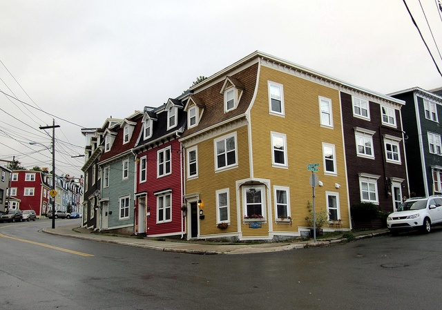 Colourful Row Houses of Historic Downtown St. John's, Newfoundland, Canada.
