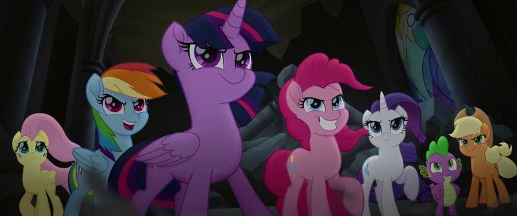 #1639415 - applejack, badass, fluttershy, heroic posing, mane six, my little pony: the movie, pinkie pie, rainbow dash, rarity, safe, screencap, spike, spoiler:my little pony movie, twilight sparkle - Derpibooru - My Little Pony: Friendship is Magic Imageboard