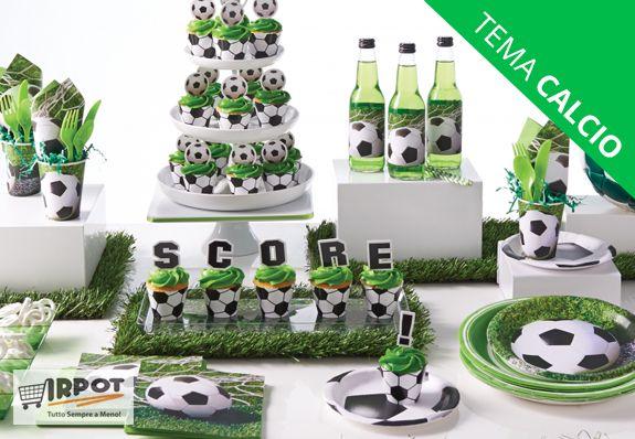 festa compleanno tema calcio