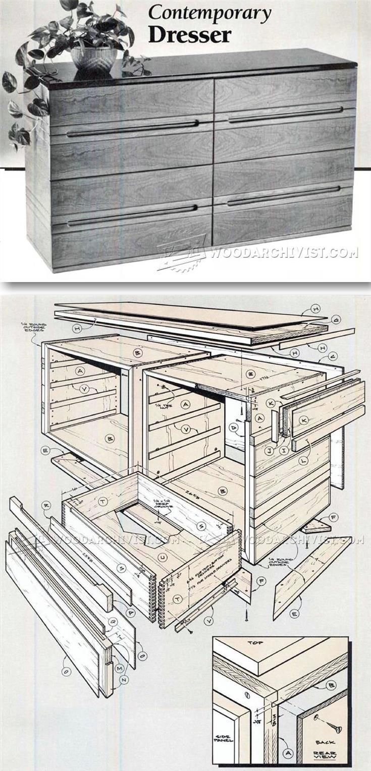 Contemporary Dresser Plans - Furniture Plans and Projects | WoodArchivist.com