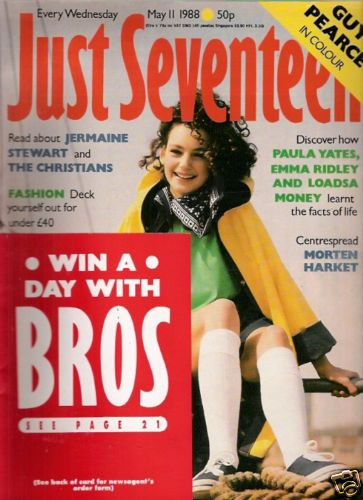 Just Seventeen magazine - the magazine of my teenage years, loved it. published  from October 1983 to April 2004.