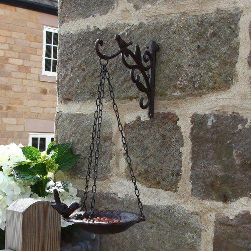 Pin By Georgina On Garden Hanging Bird Bath Outdoor