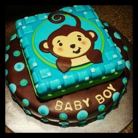 71 best monkey boy baby shower birthday party ideas images on pinterest - Monkey baby shower cakes for boys ...