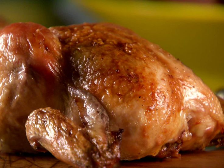 Garlicky Smothered Cornish Hens recipe from Sunny Anderson via Food Network