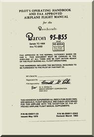 Beechcraft Baron 55 Aircraft Handbook Flight Manual 1961 Beechcraft Baron Manual Blueprints